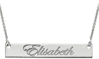 FINE JEWELRY Personalized 6x39mm Script Name Bar Necklace