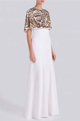 Andrew Gn Embroidered Cape Gown