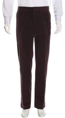 Ralph Lauren Purple Label Velvet Flat Front Pants