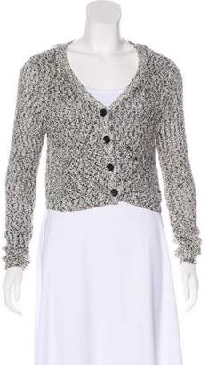 Aiko Cropped Knit Cardigan