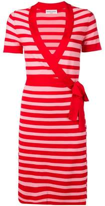 Sonia Rykiel striped knit wrap dress