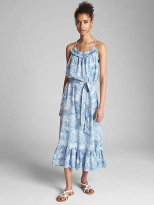 Gap Ruffle Cami Maxi Dress in TENCEL