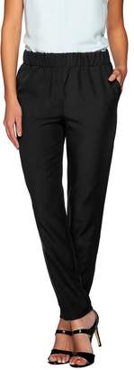 Halston H By H by Stretch Twill Pull-On Ankle Pants
