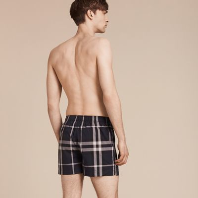 Burberry Check Twill Cotton Boxer Shorts 10