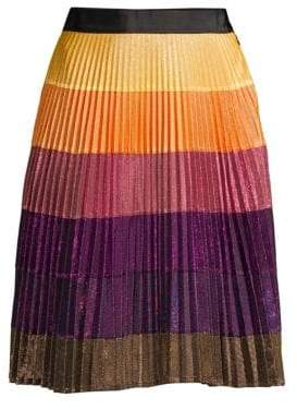 Romance Was Born Cosmic Disco Pleated Skirt