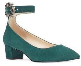 Nine West Bartlly Block Heel Suede Pumps
