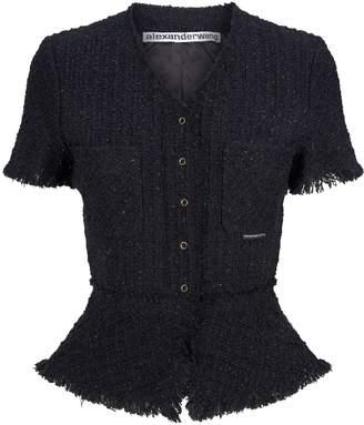 Alexander Wang Short-Sleeved Tweed Jacket