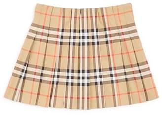 Burberry Girls' Pearl Core Vintage Check Pleated Skirt - Little Kid, Big Kid