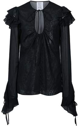 Rosie Assoulin ruffled sleeve blouse