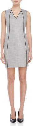 T Tahari Lakira V-Neck Sheath Dress