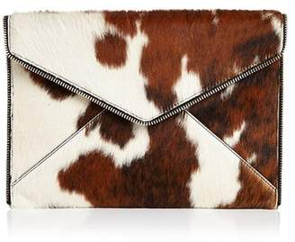 Rebecca Minkoff Leo Large Leather & Calf Hair Clutch