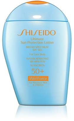 Shiseido Women's Ultimate Sun Protection Lotion WetForce for Sensitive Skin & Children Broad Spectrum SPF 50+