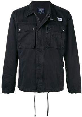 Woolrich logo patch shirt jacket