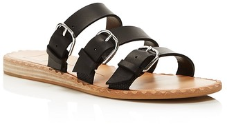 Dolce Vita Para Leather Slide Sandals $120 thestylecure.com