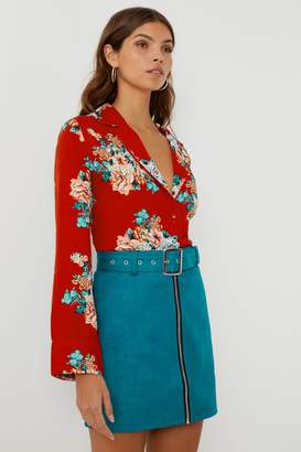 Next Womens Boohoo Petite Floral PJ Shirt