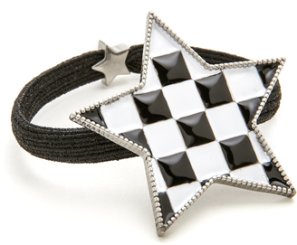 Marc Jacobs Checkerboard Star Hair Tie