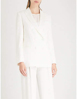 Max Mara Elegante Alatoa double-breasted crepe blazer