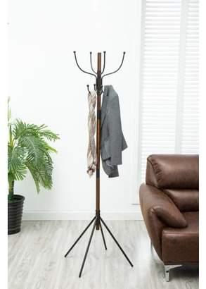 Crawford & Burke Milton 8-Hook Wooden Standing Coat Rack