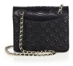 Tory Burch Fleming Medium Quilted Leather Shoulder Bag $475 thestylecure.com