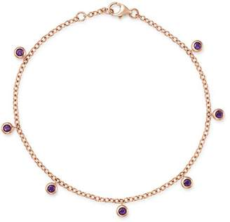 Bloomingdale's Amethyst Station Dangle Bracelet in 14K Rose Gold - 100% Exclusive