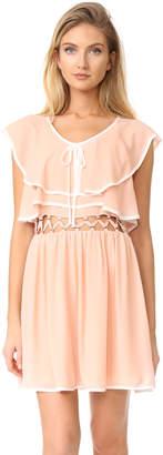 endless rose Open Waist Flared Dress $130 thestylecure.com