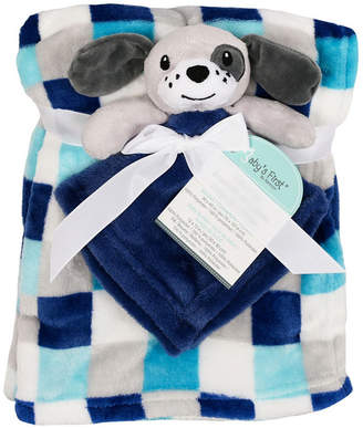 Baby First by Nemcor 2-Piece Blanket Buddy Set, Blue Dog