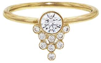 Yannis Sergakis Adornments La Pierre Diamond Cluster Drop Ring - Yellow Gold