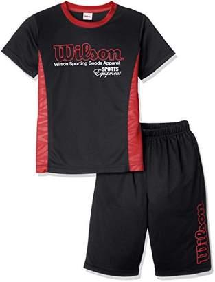 Wilson (ウィルソン) - (ウィルソン) Wilson 上下セット Tシャツスーツ 18SS WX5785 [ジュニア] WX5785 08 ブラック 130