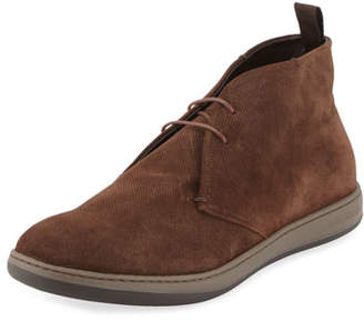 Giorgio Armani Perforated Suede Sport Chukka Boot, Brown