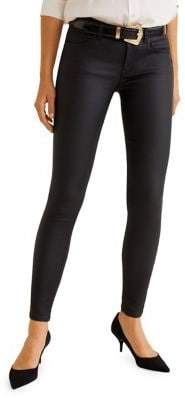 MANGO Coated Kim Skinny Push-Up Jeggings