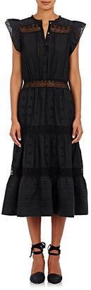 Ulla Johnson Women's Tatyana Tiered Midi-Dress $450 thestylecure.com