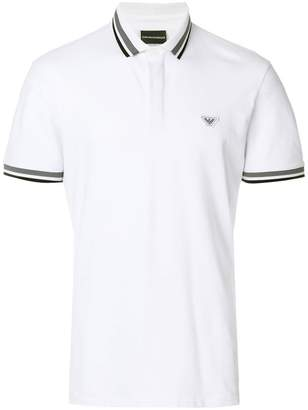 Emporio Armani stripe trim polo shirt