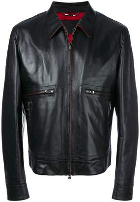 Dolce & Gabbana leather jacket with contrast lining