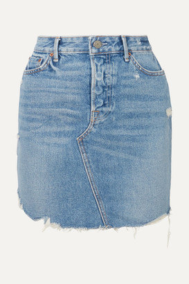 ca060dd085 GRLFRND Rhoda Distressed Denim Mini Skirt - Mid denim