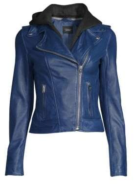 Moto LaMarque Holy Hooded Leather Jacket
