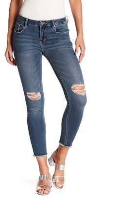 Vigoss Jagger Fray Hem Distressed Skinny Jeans