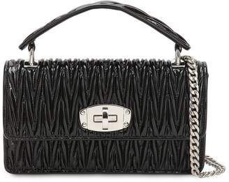 Miu Miu Small Cleo Quilted Patent Leather Bag