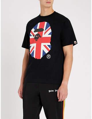 A Bathing Ape Union Jack logo-print cotton-jersey T-shirt