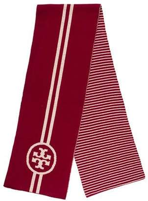 Tory Burch Knit Striped Scarf