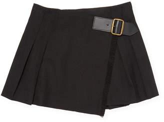 Burberry Pleated Wrap Skirt