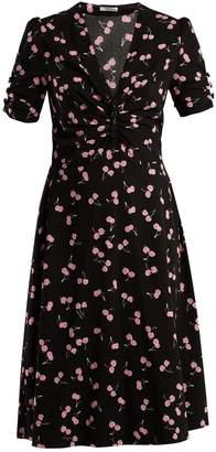 Miu Miu Cherry-print chiffon dress