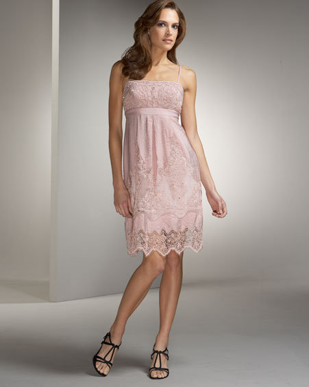 Sue Wong Lace Trim Dress