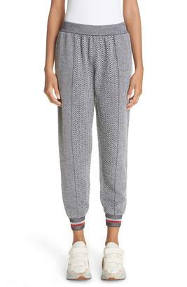 Stella McCartney Chevron Knit Track Pants