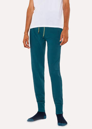 Paul Smith Men's Teal Jersey Cotton Lounge Pants