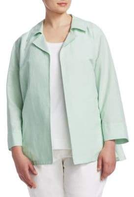 Lafayette 148 New York Lafayette 148 New York, Plus Size Tate Cotton& Linen Jacket