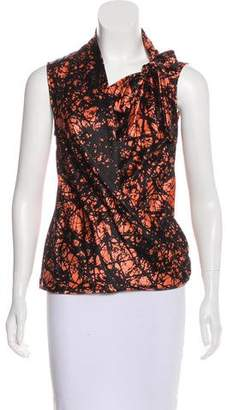 David Szeto Printed Silk Top