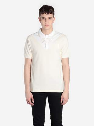Raf Simons Fred Perry X FRED PERRY X MEN'S OFF-WHITE V-INSERT POLO SHIRT
