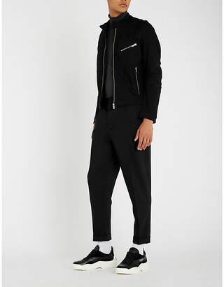 HUGO Zip detail cotton-blend jacket
