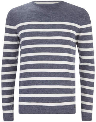 Threadbare Men's Robinson Crew Neck Jumper - Navy