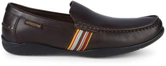Mephisto Idris Striped Detail Leather Loafers